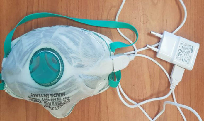 Prototype of the self-disinfecting reusable mask