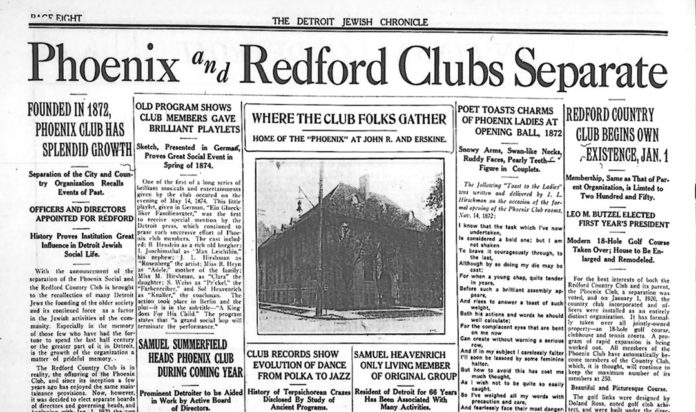 The Legacy of the Phoenix and Redford Clubs