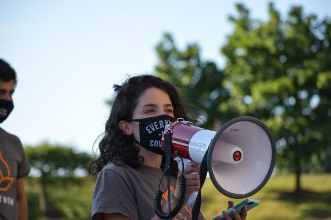 West Bloomfield Protests at Max M. Fisher Federation building