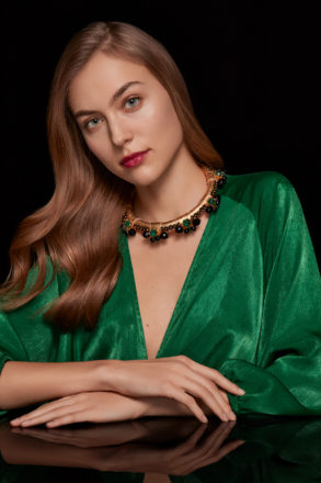 """Saulė Label - """"Amelie Necklace in Royal Gold"""""""