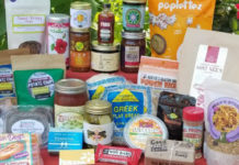 Contents of Hazon's Food Festival in a Box.