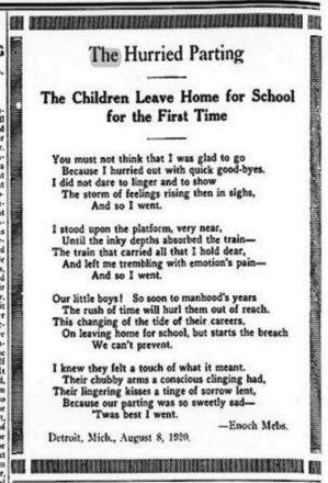 The poem by Enoch Mebs