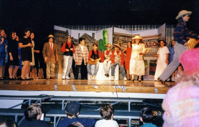 """Bloomfield Hills Middle School's production of Crazy for You, the """"new Gershwin musical comedy."""""""
