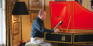Andrew Appel at the harpsichord