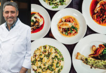 Luciano Del Signore and Bacco dishes