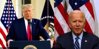 President Donald Trump and former Vice President Joe Biden