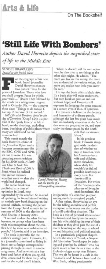 The review of David Horovitz's book