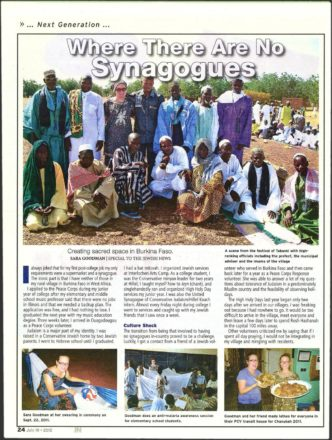 Article about creating sacred space in Burkina Faso