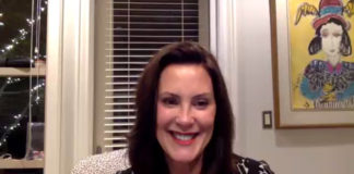 Gov. Gretchen Whitmer during virtual event