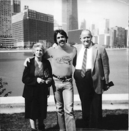 Mort with his parents while he was at WLS (ABC in Chicago) in 1983.