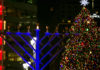 Menorah lighting in prior years