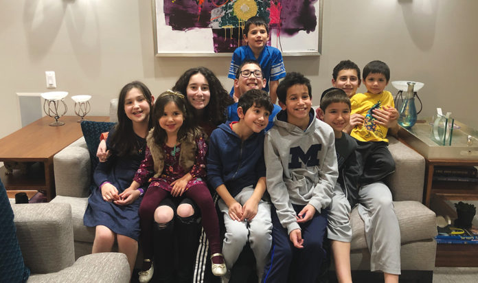 Dorfman grandchildren, Thanksgiving 2019