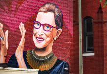 Mural of Justice Ruth Bader Ginsburg