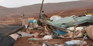 Footage from a video uploaded by the B'Tselem group shows the remains of a Bedouin village in the West Bank.