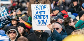 Stop Antisemitism Sign