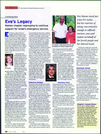 Eva Mames' Legacy featured in the JN