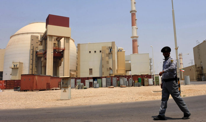 A view of the Russian-built Bushehr nuclear power plant in southern Iran, Aug. 21, 2010.