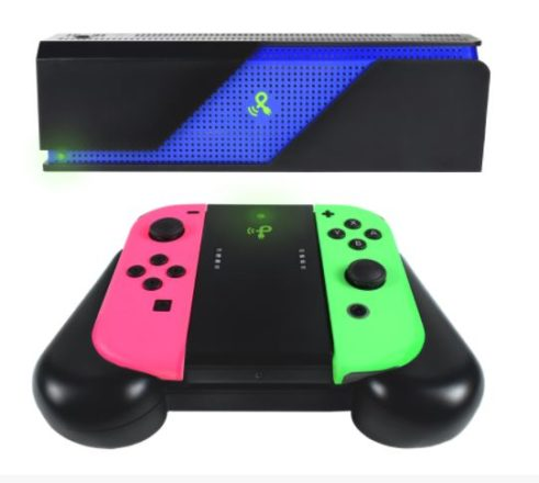 PowerCast Wireless Charging Grip for Nintendo Switch