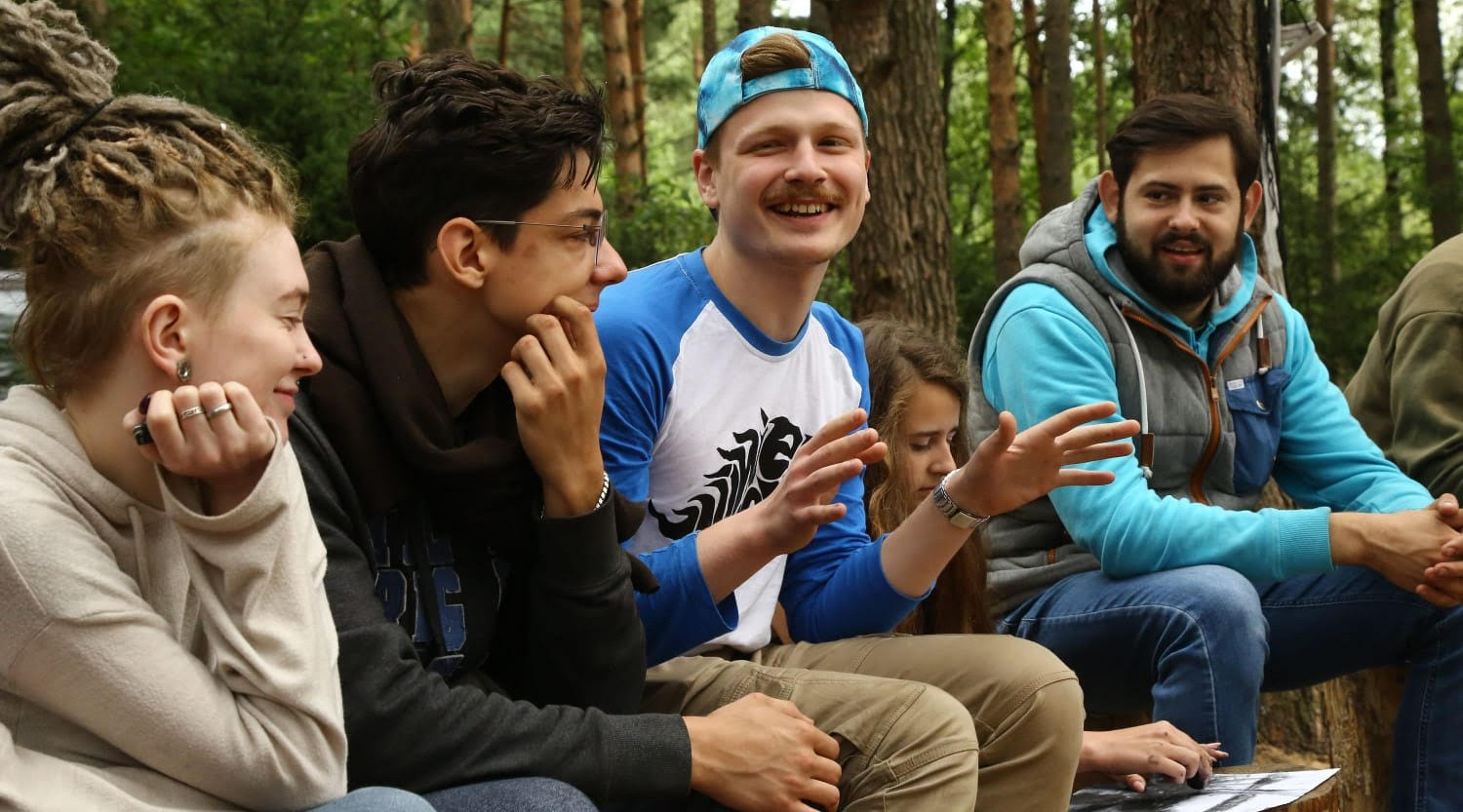 Igor Litvin, right, started a Torah-based ecology club in Minsk, Belarus. Participants meet every so often to discuss an environmental dilemma and what Judaism has to say about it.