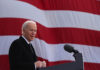 "Joe Biden, then president-elect, delivers remarks at the Major Joseph R. ""Beau"" Biden III National Guard/Reserve Center in New Castle, Del., Jan. 19, 2021."