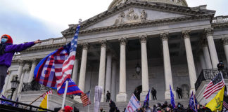 "A view of the crowds outside the U.S. Capitol for the ""Stop the Steal"" rally on Jan. 6, 2021 that led to violence."
