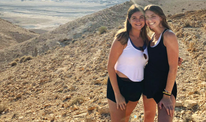 Alex Wineman, right, with a friend in Israel