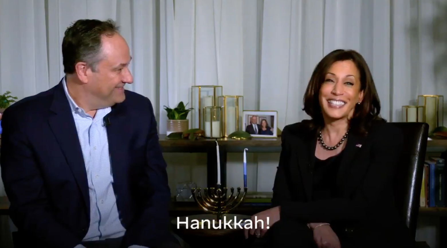 Vice President-elect Kamala Harris and husband Doug Emhoff