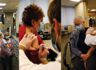 Residents of Oak Park's JSL Coville Apartments and Prentis Apartment 1 received their first dose of the Moderna vaccine on Jan. 4.