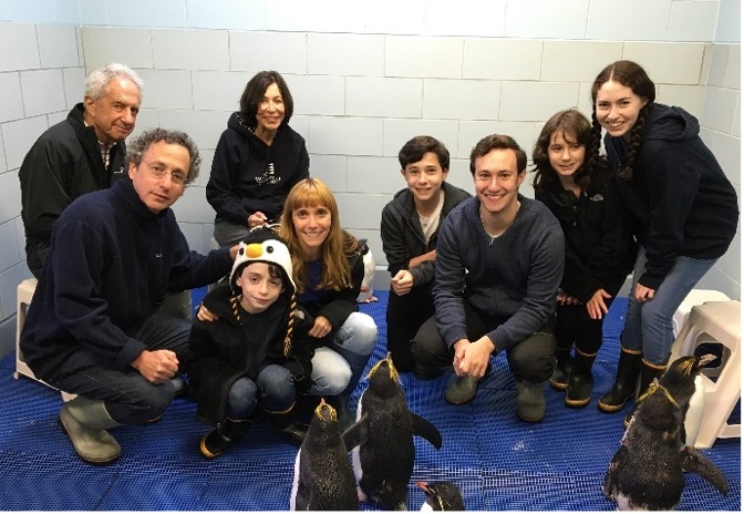 The Blumenstein Family (and penguins)!