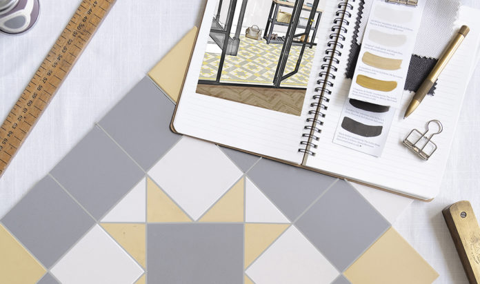 Hawthorn Yellow Dover White and Chester Mews Victorian Floor Tiles from Original Style - Mood Board