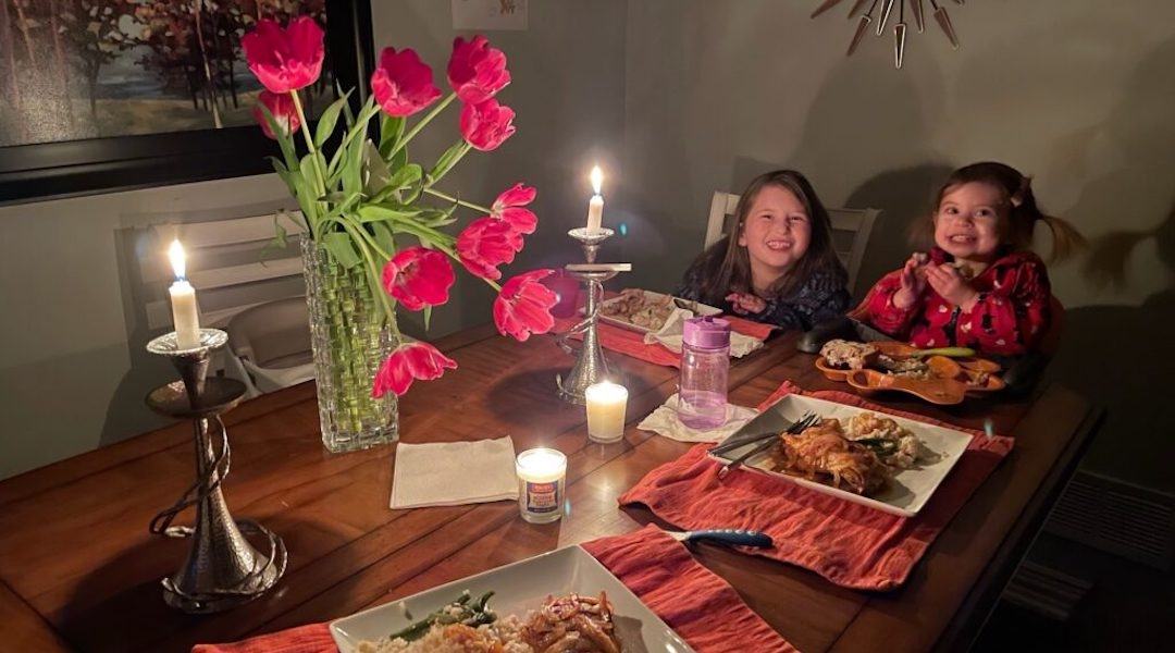 Rabbi Shira Wallach's children thought the Shabbat and yahrzeit candles used to light their home when the power was out meant it was Shabbat.