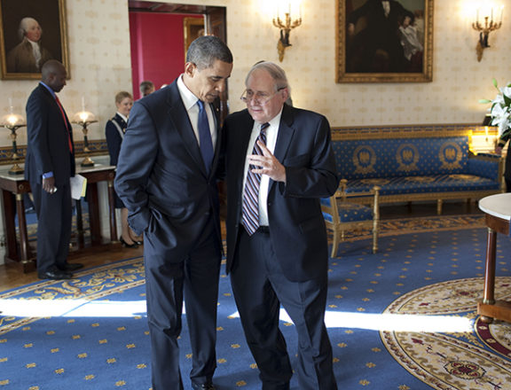 President Obama and Sen. Levin at the White House, Oct. 28, 2009.