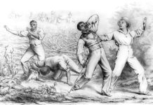 Effects of the Fugitive Slave Law (1850) stock illustration