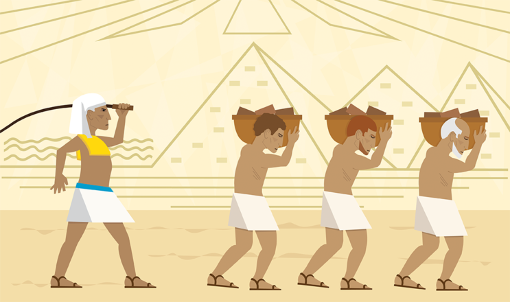 Slaves In Egypt stock illustration
