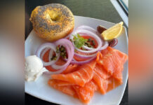 Bagel and Lox from Stage Deli.