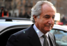 Bernie Madoff, pictured in 2009 ahead of his entering a guilty plea.