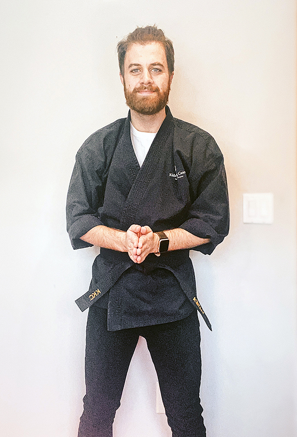 Keith Vartanian, a martial arts therapist with Kids Kicking Cancer's Boston and New York chapters