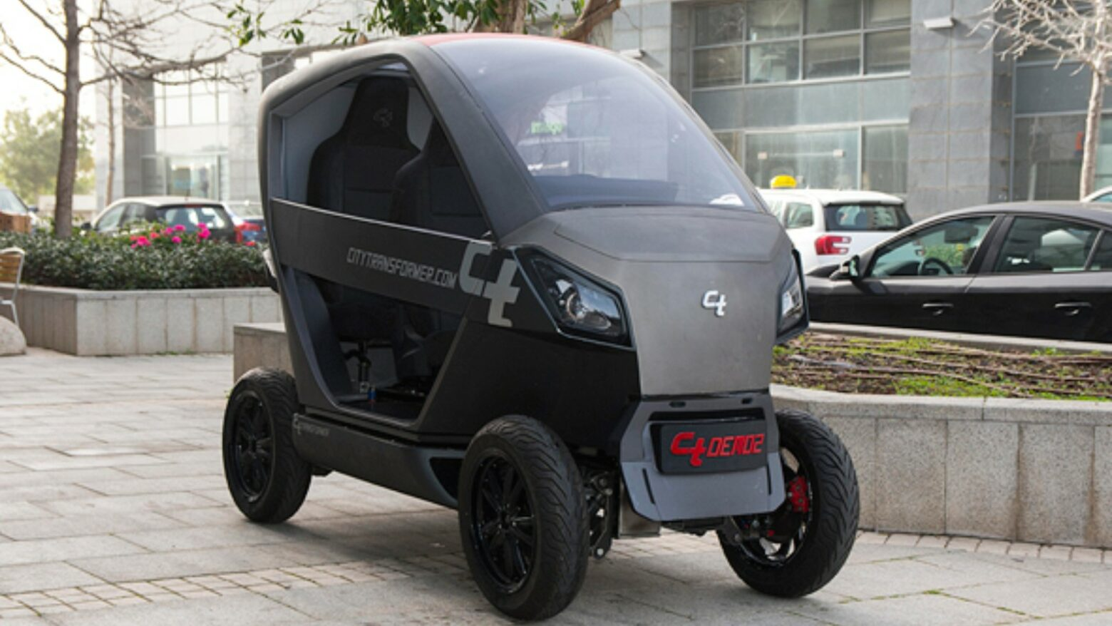 Prototype of the City Transformer folding electric car.