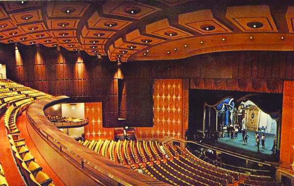View from the Balcony of the Fisher Theatre, 1970.