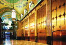 The lobby of the Fisher Building
