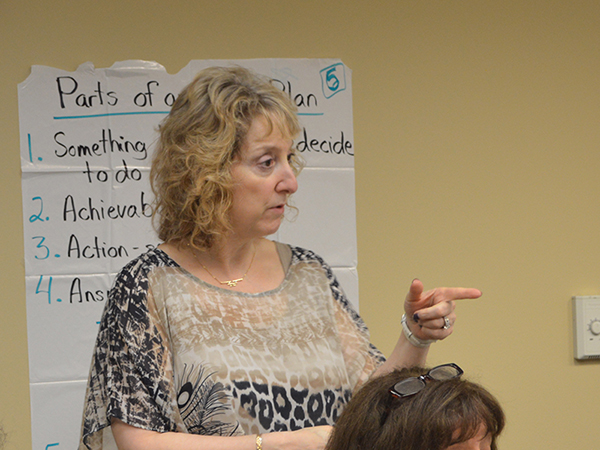 Lynne Breuer leads a PATH (Personal Actions Toward Health) class.