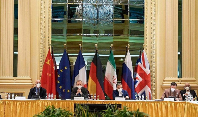 Negotiations in Vienna, Austria, between Iran and European Union, France, United Kingdom, Germany, Russia and China. Source: European External Action Service/Twitter.