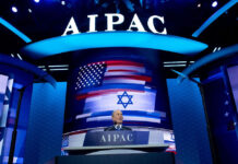 Mike Bloomberg speaks at the 2020 policy conference of AIPAC, the prominent Israel lobbying group, March 2, 2020.