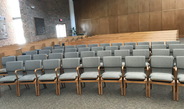 New seating in the sanctuary