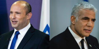 Naftali Bennett, left, will be Israel's next prime minister, to be succeeded by Yair Lapid, right.