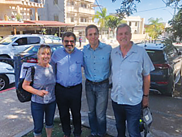 With Eyal Betzer of Jezreel Valley Regional Council and his wife, and Federation's Yoav Raban.