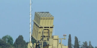 Iron Dome launcher deployed next to Sderot, Israel (June 2011)