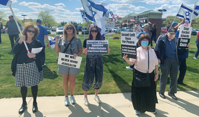 Members of the Metro Detroit Jewish community rally for Israel May 14 in West Bloomfield.