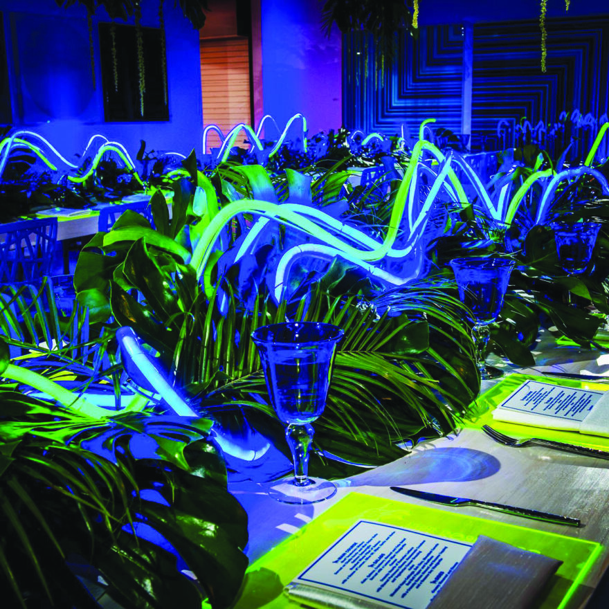 """A """"neon luncheon"""" put on by Star Trax"""