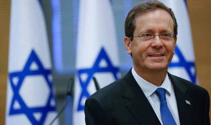 Israeli President-elect Isaac Herzog at the Knesset in Jerusalem on the day of the election, June 2, 2021.